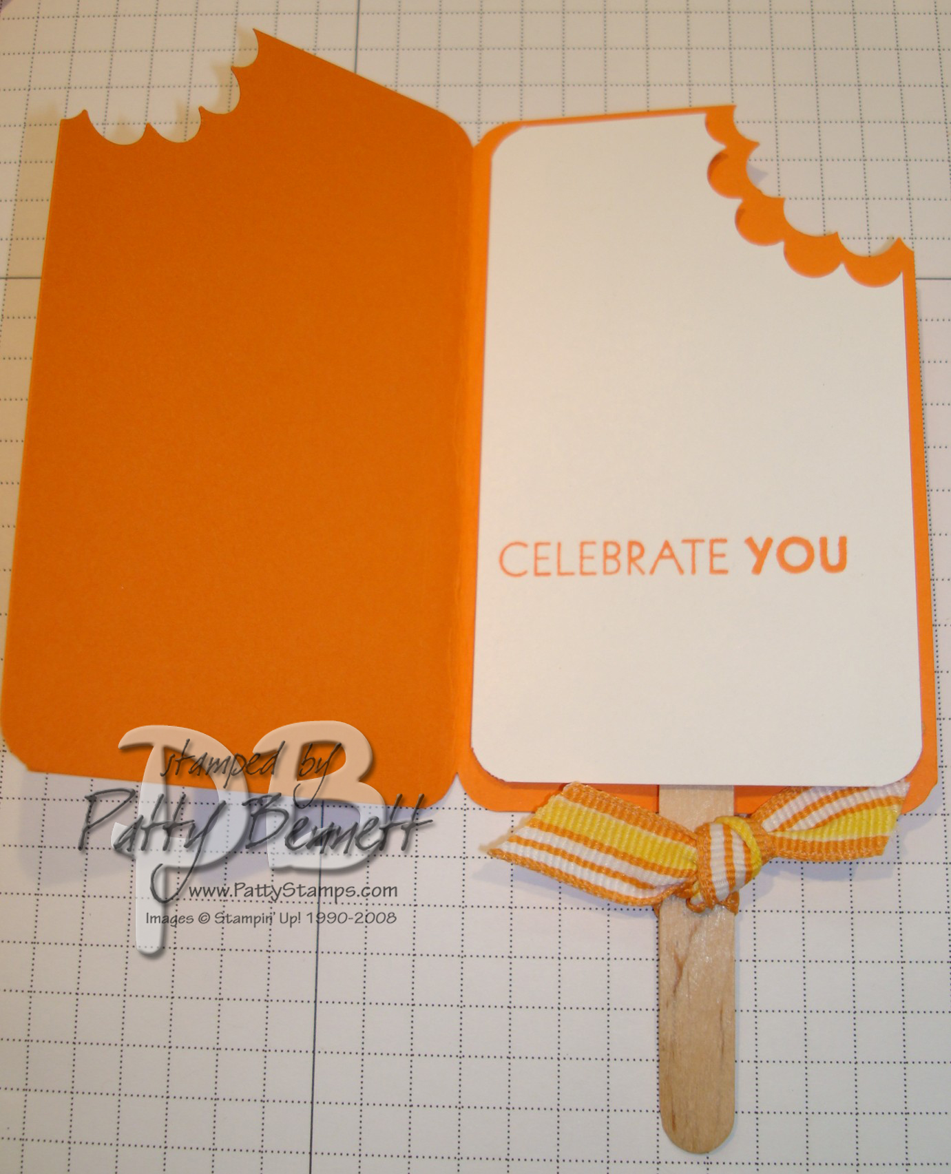 Popcicle card open