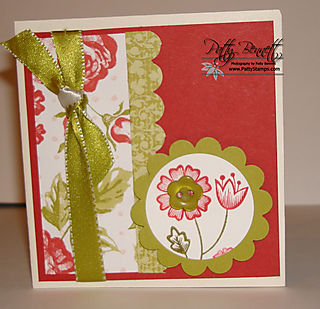 Kiwi ribbon card front
