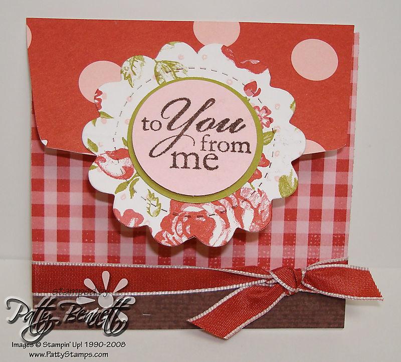 Bella rose env card