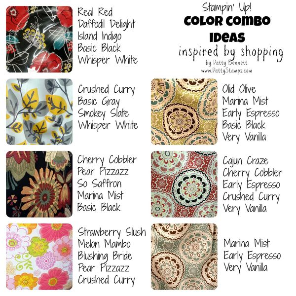 2014 In Colors Stampin Up: Stampin Up Color Combo Ideas INSPIRED By Shopping